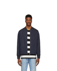 A.P.C. Navy Greg Bomber Jacket