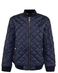Ralph Lauren Navy Quilted Bomber Jacket