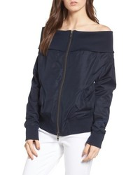 Off the shoulder bomber jacket medium 5209635