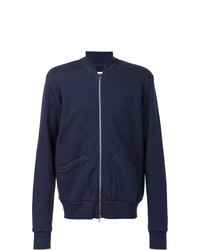 321 Patch Pockets Bomber Jacket Blue