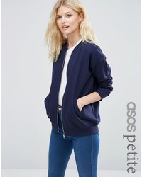 Asos Petite Petite The Ultimate Bomber Jacket In Jersey