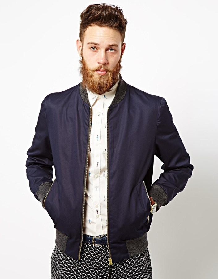 Paul Smith Ps By Bomber Jacket Blue | Where to buy & how to wear