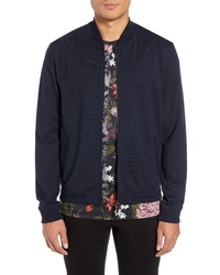 Ted Baker London Ruubes Slim Fit Birds Eye Knit Bomber Jacket
