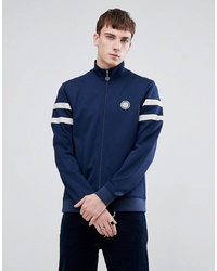 Pretty Green Tricot Track Jacket In Navy