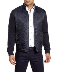 Robert Graham Wuthering Mixed Media Bomber Jacket