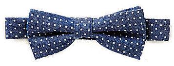 Class Club Denim Dotted Bow Tie