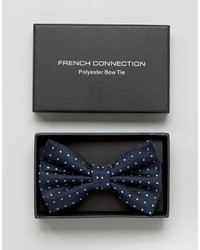 French Connection Marine Polka Bow Tie
