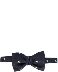 Alexander McQueen Skull Embroidered Bow Tie