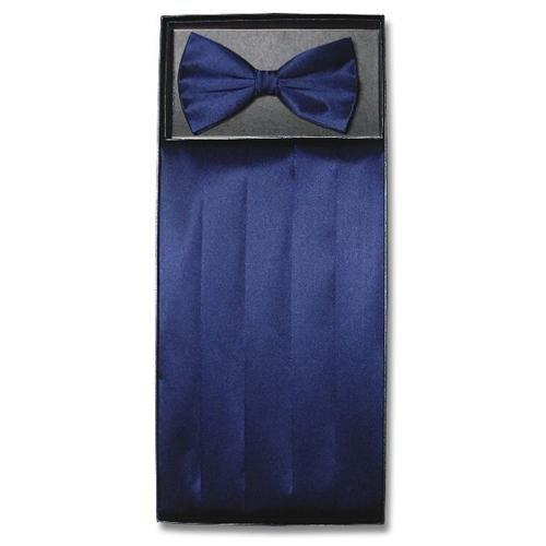 vesuvio napoli silk cumberbund bowtie navy blue cummerbund