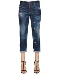 Dsquared2 Boyfriend Embroidered Denim Jeans