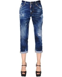 Dsquared2 Boyfriend Washed Stretch Denim Jeans