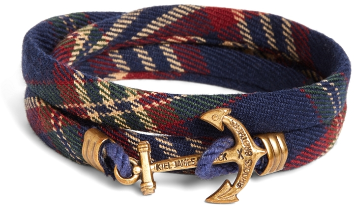 Brooks Brothers Kiel James Patrick Signature Tartan Wrap Bracelet