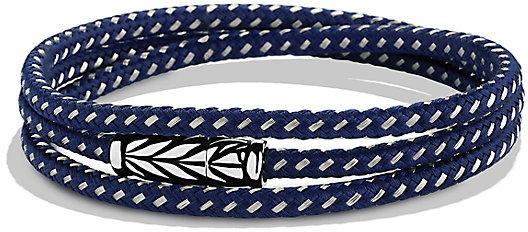 David Yurman Chevron Triple Wrap Bracelet In Black