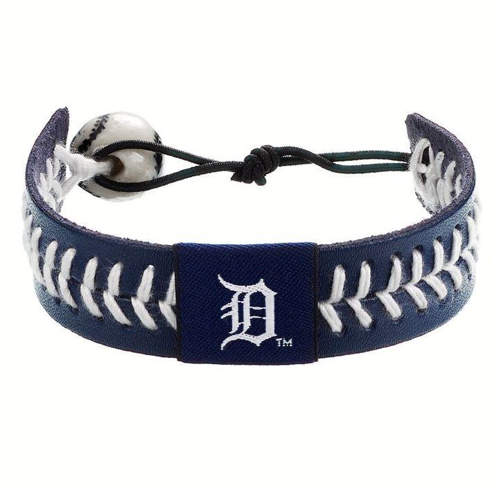 Wear Detroit Tigers Leather Baseball Bracelet