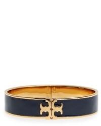 Tory Burch Raised Logo Enamel Hinge Bracelet