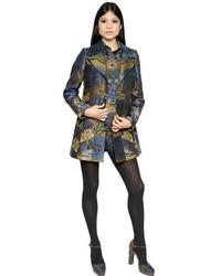 Etro patchwork brocade coat medium 319616