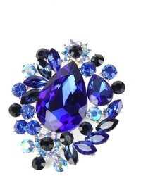 Crystal art designs blue rhinestone brooch medium 1159540