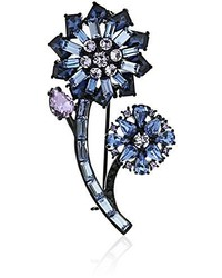 Kate Spade New York Small Flower Brooch Bluemulti Colored Brooches And Pin