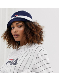 Fila Basil Logo Bucket Hat In Navy
