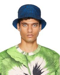 Kenzo Blue Monogram Bucket Hat