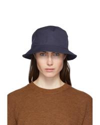 Acne Studios Navy Cotton Canvas Bucket Hat