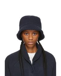 YMC Navy Sherpa Fleece Bucket Hat