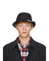 Thom Browne Navy Wool Classic 4 Bar Bucket Hat