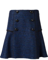 Proenza Schouler Buttoned Tweed Skirt