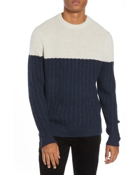 Nordstrom Signature Block Merino Wool Cable Knit Sweater