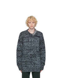 Dries Van Noten Blue Wool Maxi Sweater