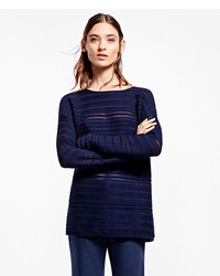 Brooks Brothers Horizontal Cable Boatneck Sweater