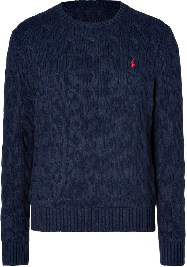 Hunter Polo Navy Ralph Cable Cotton Lauren In Where To Pullover H7YrWRYU