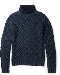 Tod's Cable Knit Frosted Wool Sweater