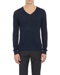 John Varvatos Cable Knit Sweater Blue