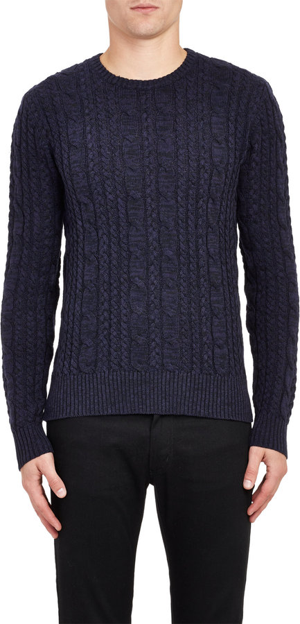 Todd Snyder Cable Knit Sweater Blue Where To Buy How To Wear
