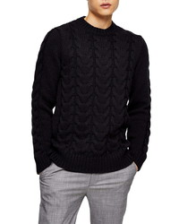 Topman Cable Knit Sweater
