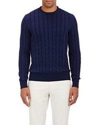 Drumohr Cable Knit Sweater Navy