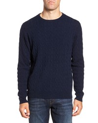 Nordstrom Men's Shop Cashmere Cable Knit Sweater