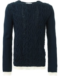 Comme des garons shirt cable knit sweater medium 361557