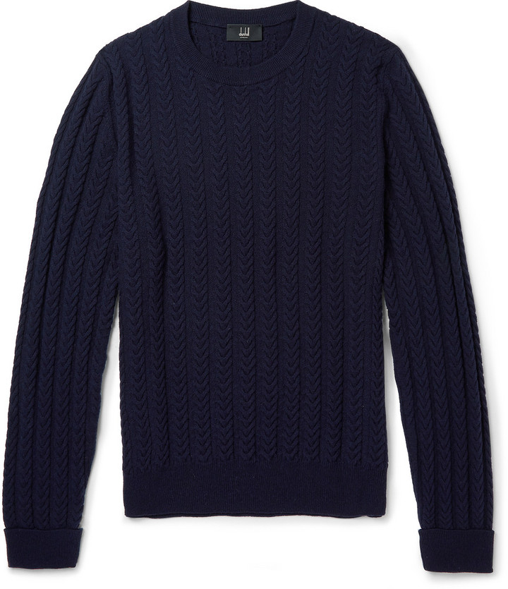 Cashmere Knit Dunhill Staghorn Cable Sweater Wool n6xF8xUwq