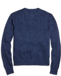 Half cable crewneck sweater medium 410383