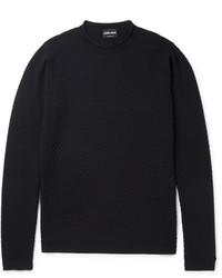 Honeycomb textured wool blend sweater medium 1149131