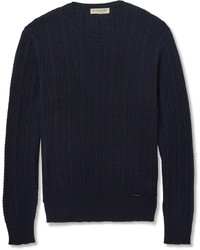 Burberry London Slim Fit Cable Knit Cashmere Sweater