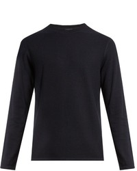 Vince Long Sleeved Cotton And Cashmere Blend Sweater