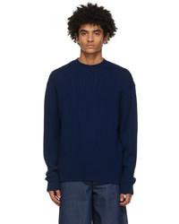 King & Tuckfield Navy Merino Chunky Sweater
