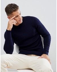 Jack & Jones Premium Cable Knit In 100% Cotton