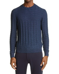 Emporio Armani Tonal Houndstooth Sweater