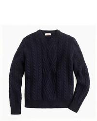 J.Crew Wallace Barnes Shetland Wool Cable Sweater