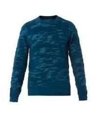 Maison Martin Margiela Camouflage Burn Out Wool Knit Sweater