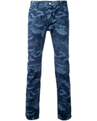 Navy Camouflage Jeans